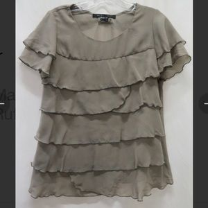 Marc Jacobs Lt gray ruffle blouse Sz s